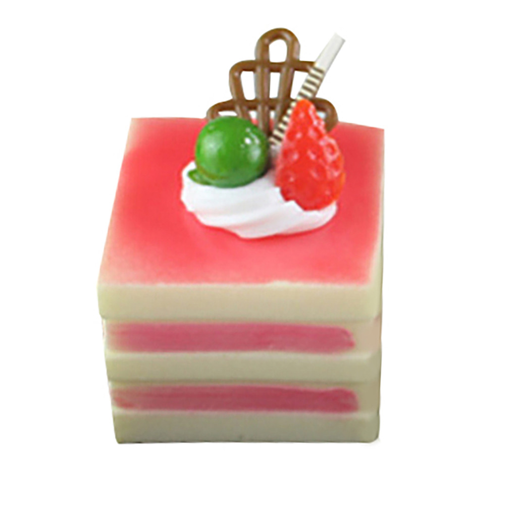 High Simulation Square Cake B Type PU Fake Bread Cake Food Model Sketch Photography Prop Teaching  Stress Reliever Toys L108