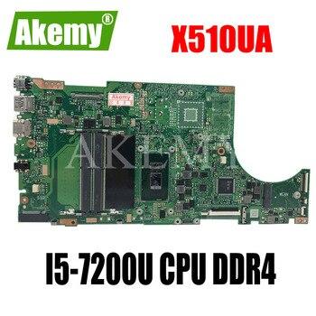 Akemy X510UA para For For For Asus X510U X510UN X510UR X510URR X510UQ computadora portátil placa base X510UA placa base W/ I5-7200U CPU DDR4