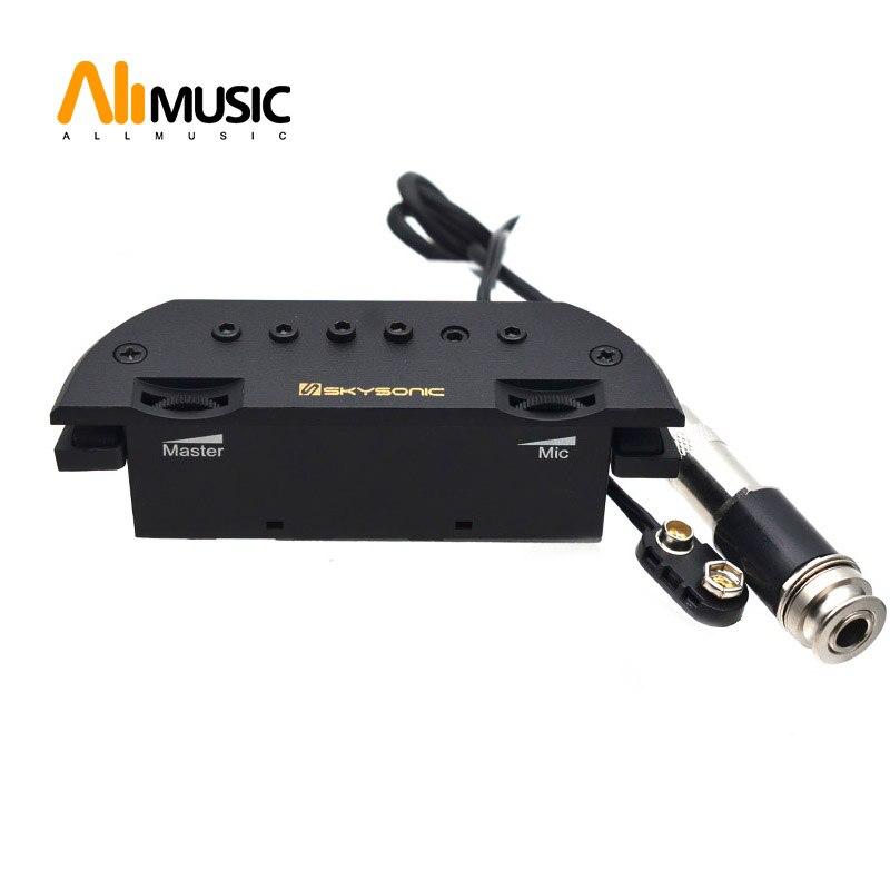 Skysonic T-903 micro guitare acoustique Active Humbucker micro-trou magnétique + micro excellente réponse basse et milieu de gamme