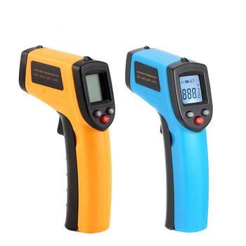 Cyfrowy termometr na podczerwień bezdotykowy Laser IR pistolet termiczny wyświetlacz LCD termometry pirometr Tester miernik temperatury tanie i dobre opinie Anpro VJI0028 Lodówka termometry Gospodarstw domowych termometry Z tworzywa sztucznego -50~380C(-58~716F) 12 1 0 1C 0 1F