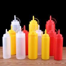 PE Ketchup Squeeze Bottle Condiment Squeeze Bottles for Sauce Vinegar Oil Ketchup Gravy Cruet Kitchen Gadget