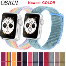 Sport Loop For Apple watch band 42mm 38mm correas strap 4 44mm 40mm Iwatch series 3 2 1 Watchband bracelet breathable wrist belt silicone strap for apple watch band 42mm 38mm iwatch 3 2 1 band sport bracelet wrist belt rubber watchband porous breathable