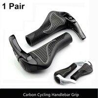 Carbono de alta Qualidade Guidão de Bicicleta Apertos de Bicicleta de Ciclismo de Estrada de Montanha Mtb Da Bicicleta Da Bicicleta Lock on Guiador Capa Pega Bar final|Manopla bic.|Esporte e Lazer -
