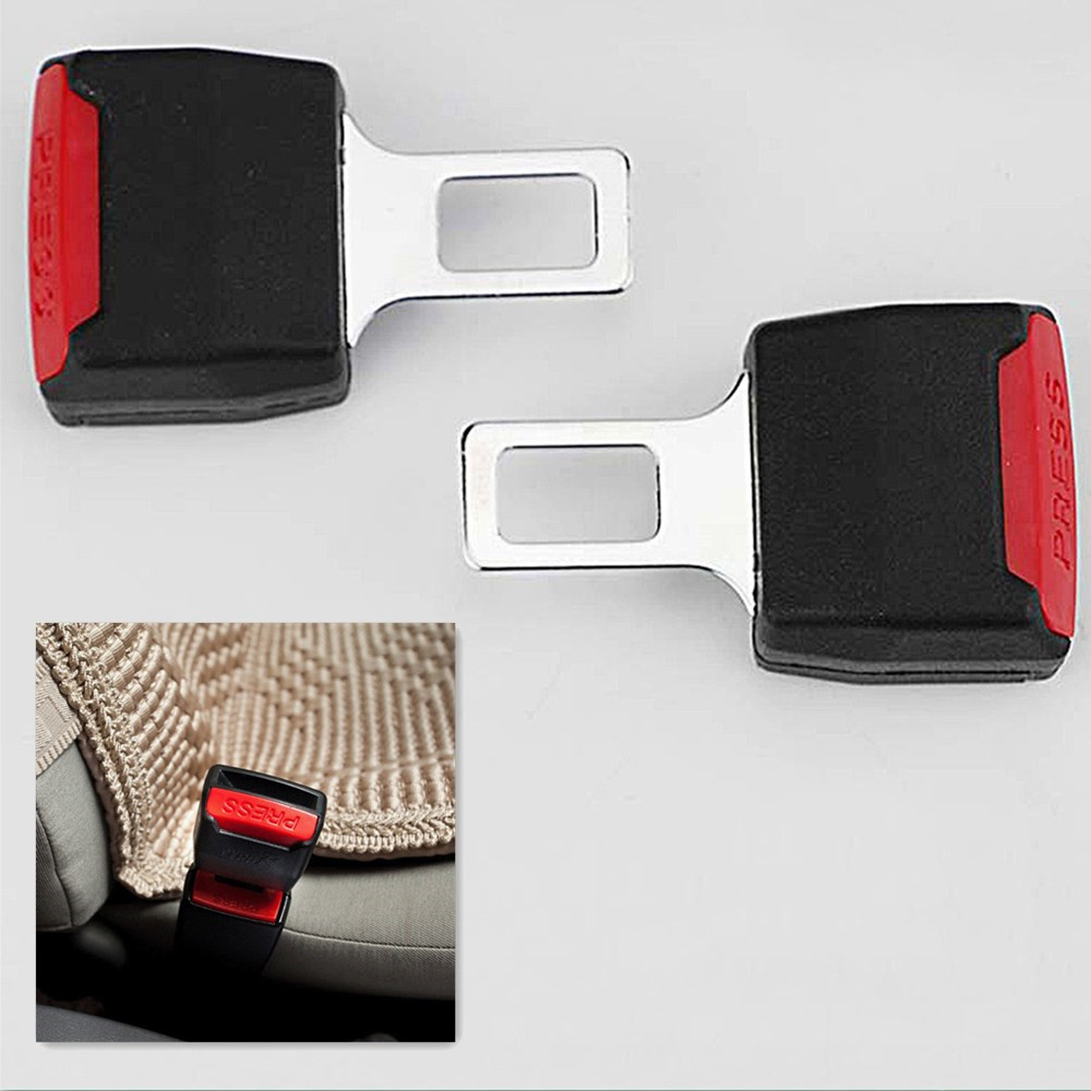 BIG SAFETY SEAT BELT BUCKLE UNIVERSAL DOUBLE FUNCTION BEEP STOPPER AND SEAT BELT
