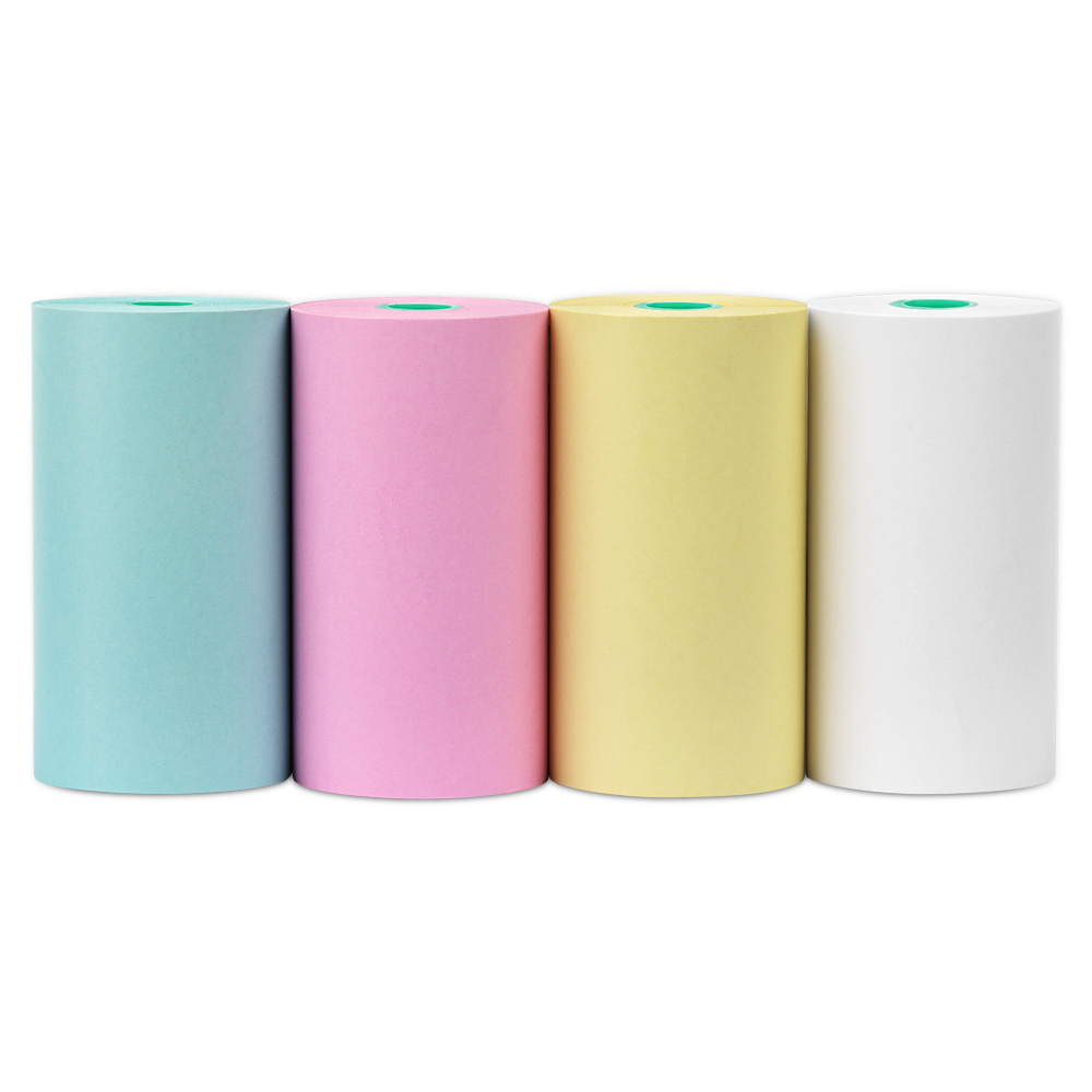 Methdic Colored Thermal Paper Rolls 57mm 4 Color Set For Mini Pocket Pos & Photo Printers