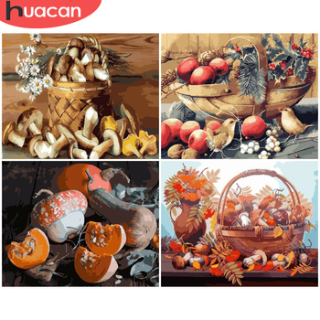 HUACAN Painting By Number Food Drawing On Canvas HandPainted Painting Art Gift DIY Pictures By Number Vegetables Kits Home Decor