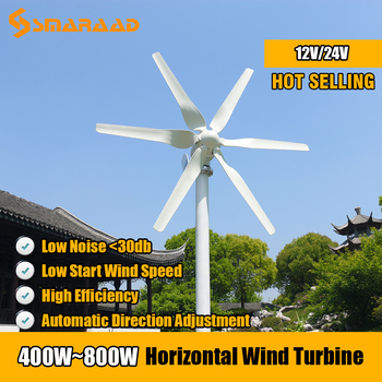 цена на Free Energy 3/5/6 Blades Wind Turbine Generator 400w 600w 800w 12v 24v High Efficient For Home Yacht Farm Low Wind Speed Start