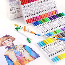 36/48/60/72/100/120 Colors Copic Markers Gel Watercolor Pen Double-Headed Marker Pen kids Graffiti Painting School Art Supplies