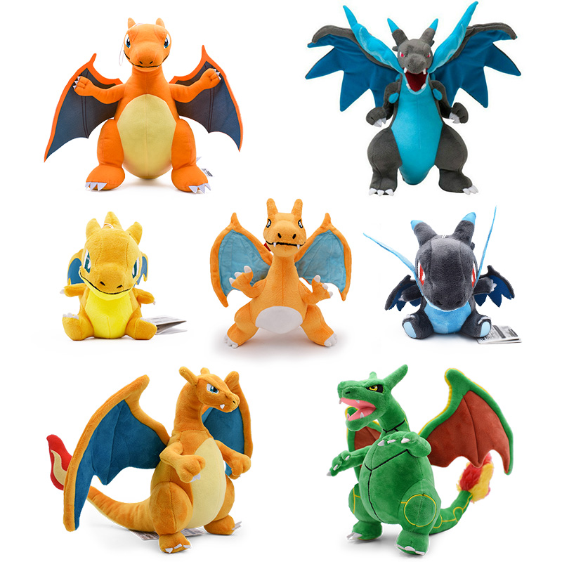 15-33cm Anime Charizard Plush Toys Center Mega Evolution Charizard X Y Soft Stuffed Animal Children Plush Doll Kids Gift