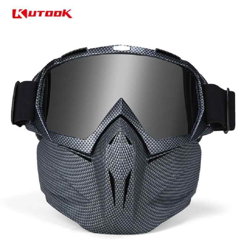 KUTOOK Snowmobile Mask Ski Glasses UV Protection Snowboard Goggles Windproof Winter Face Mask Men Women Snow Sports Eyewear