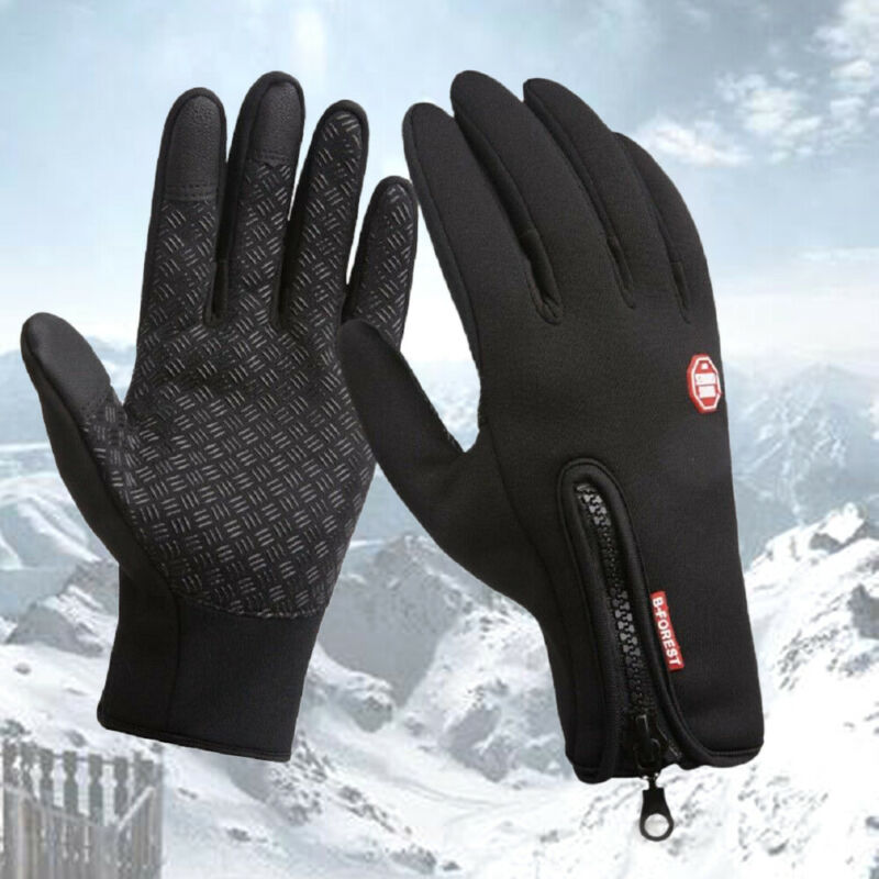 Hirigin Touch Screen Windproof Outdoor Sport Gloves Men Women Winter Running Gloves Outdoor Sport Gloves Warm Guantes Running
