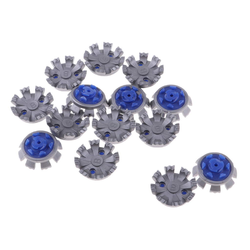 14pcs Easy Replacement Golf Shoes Spikes Cleats Soft Spike Pins Plate Fast Twist Studs For Golf Training Aid Part
