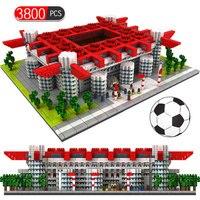 Toys for Children Mini Blocks Famous Architecture Football Soccer Field Soccer Camp Nou Signal Lduna Park Model Building Blocks