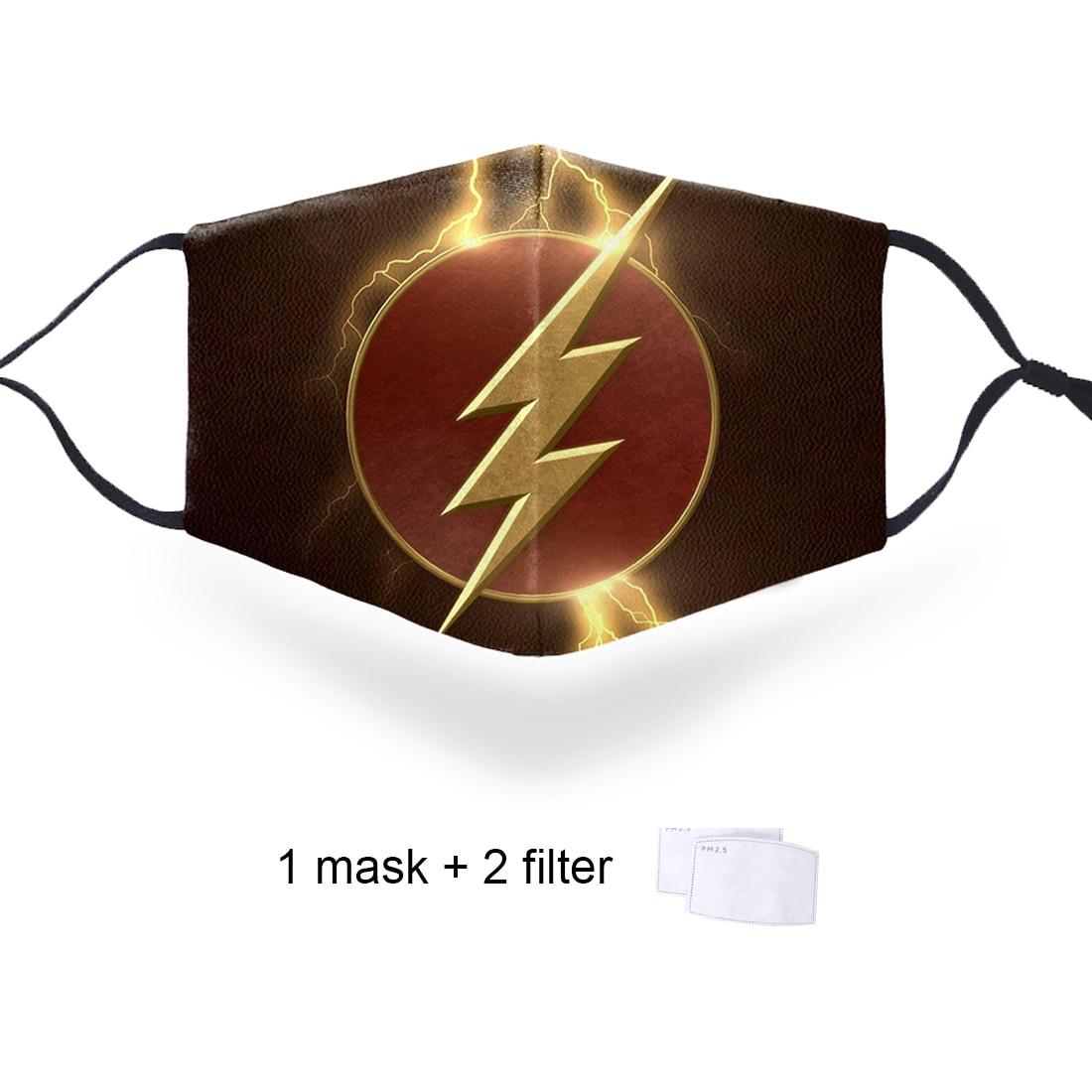 Superhero Spiderman Print Masks PM2.5 Filter Mouth Face Masks Marvel Protective PM2.5 Filter Mouth-Muffle Mask Dust Face Masks