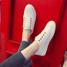 Модные белые дышащие женские кроссовки; сезон весна-лето; Корейская спортивная обувь; женская обувь; Zapatillas de deporte Z14-13
