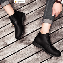 Serene top brand high quality split leather men boots spring and autumn single shoes winter cotton dual-use