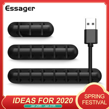 Essager Cable Organizer USB Cable Wire Holder Mouse Headphone Earphone Charger Cord Protector Desk Winder Clip Cable Management(China)