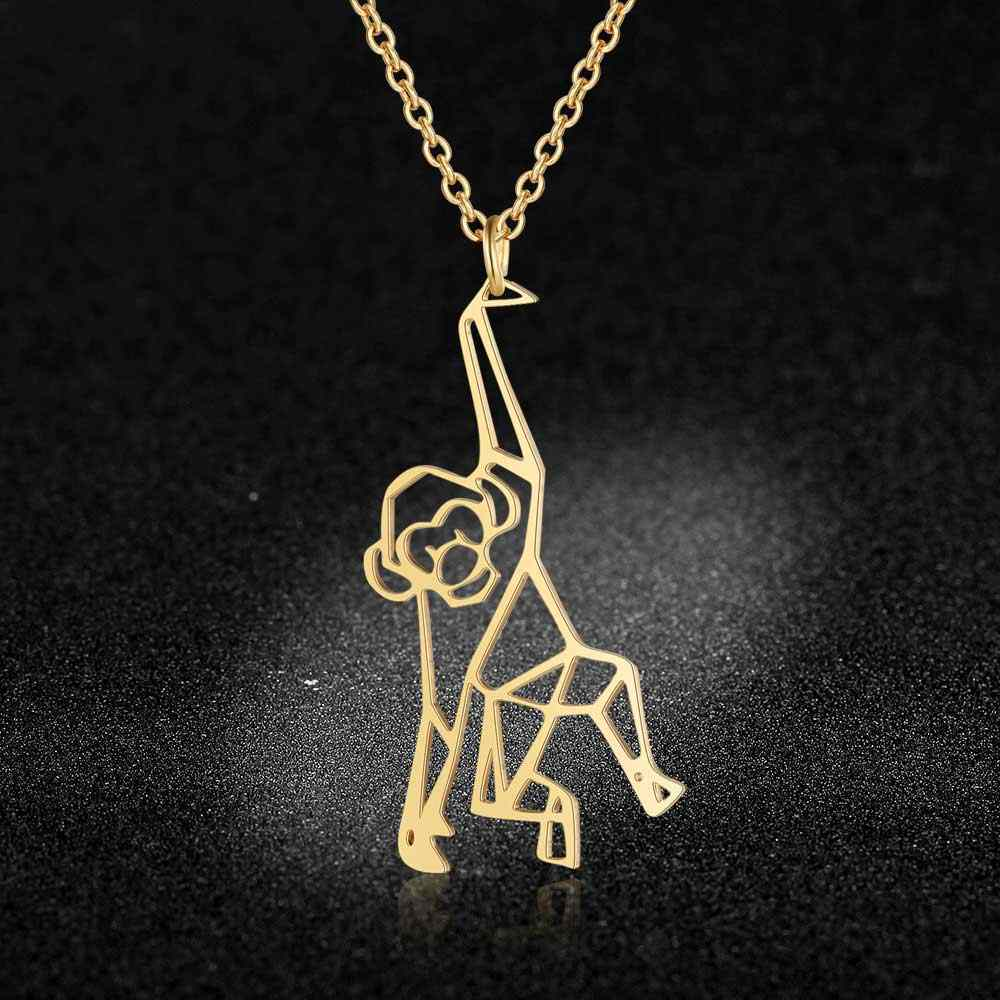 Vnistar Unique Necklaces Amazing Quality 100% Stainless Steel  Animal Monkey Necklace for Women Fashion Jewelry Special Gift