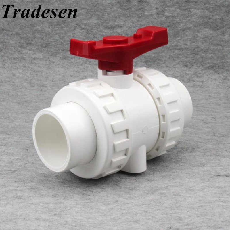 1 Pcs Wit 20 Mm 25 Mm 32 Mm 40 Mm 50 Mm Pvc Kogelkraan Union Valve Pvc Water pijp Connector Sanitair Slang Fittingen Slip Shut Valve