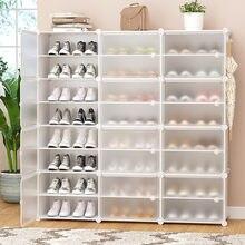 Multilayer Schuh Rack Abnehmbare Staubdicht Kunststoff Schuh Schrank Startseite Standing platzsparende Stehen Halter Schuhe Organizer Box