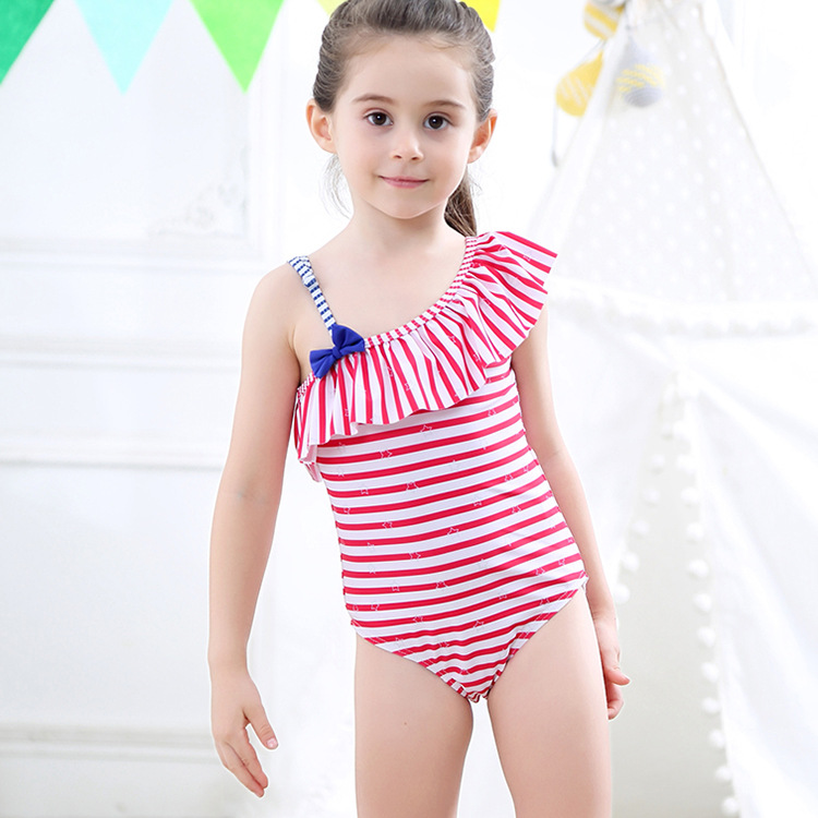 Manufacturers Wholesale KID'S Swimwear GIRL'S One-piece Swimsuit Children Baby Swim Bathing Suit GIRL'S Bathing Suit Hot Springs