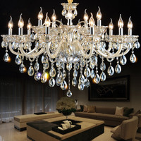 Bohemian crystal chandelier for hotel project Contemporary Glass Chandelier luxury hotel lobby lamp chandelier suspension E14