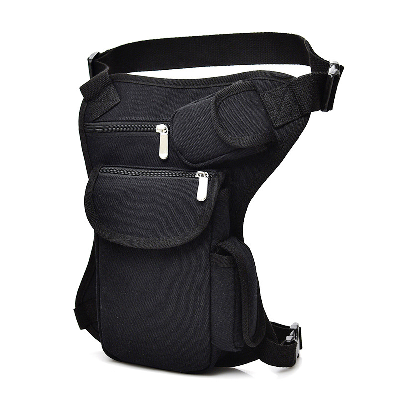 New Man Riding Waist Pack Canvas Waist Leg Bag Outdoor Tactical Multi-functional Leg Bag Casual Sports Hiking Riding Running Bag