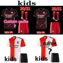 kids 20 21 Feyenoord soccer jersey KOKCU home away shirt BERGHUIS Camiseta de futbol JORGENSEN 2020 2021 Football Uniforms kit