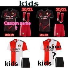 Crianças 20 21 feyenoord camisa de futebol kokcu casa longe camisa berghuis camisa de futbol jorgensen 2020 2021 uniformes de futebol kit