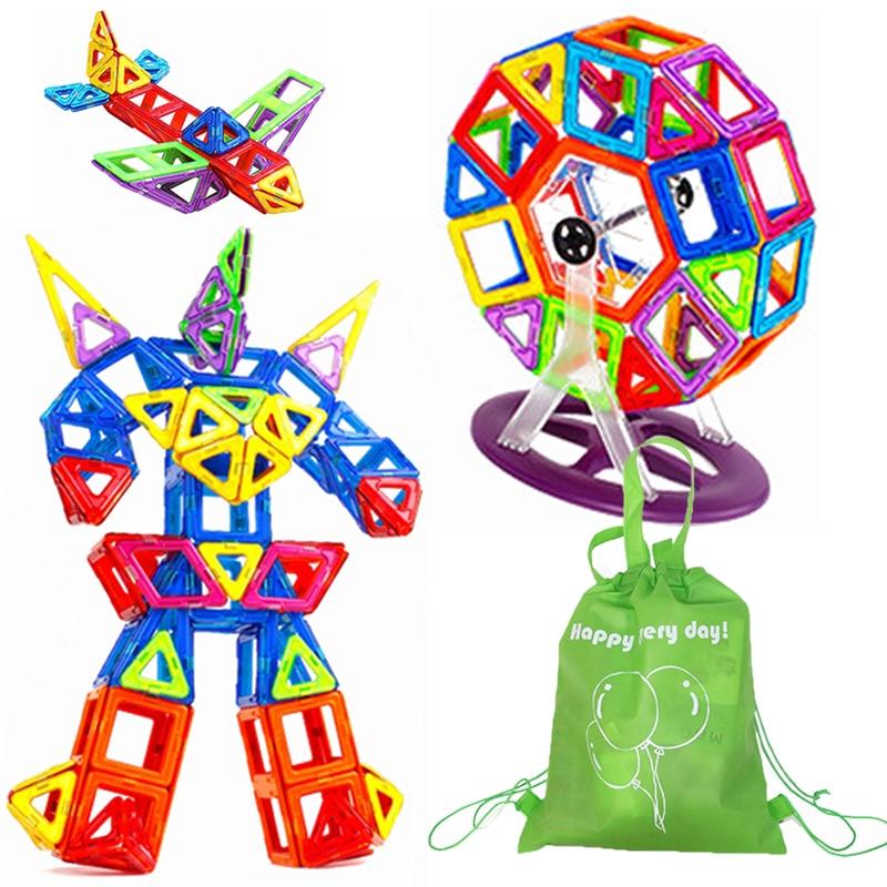 Стандартные размеры магнитные Строительные блоки Кирпич различные комбинации дизайнерские игрушки для детей с подарочной сумкой|Блочные конструкторы|   | АлиЭкспресс