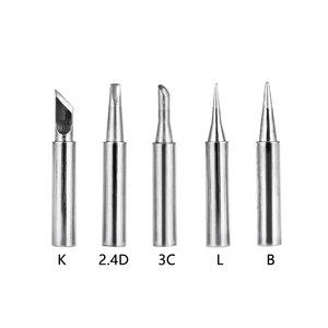 5Pcs 2.4D+3C+I+B+K Soldering Iron Tips Pure Copper Soldering Iron Head Set DIY Electric Soldering Iron Replacement Tip Repair(China)