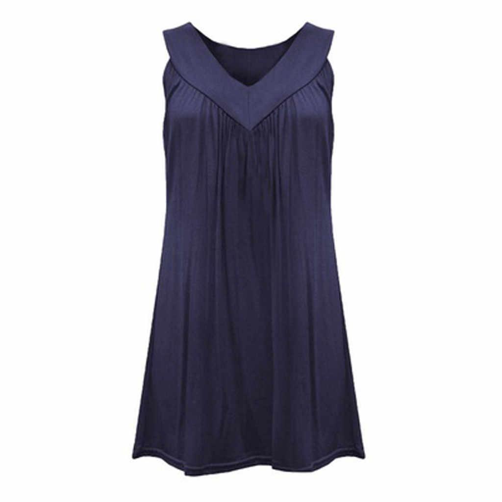 Plus Größe Frauen Solide Plissiert Kurzen Mini Kleid Fashion Casual V-ausschnitt Strand Kleid Sommerkleid Abend Party Kleid Vestidos de fiesta