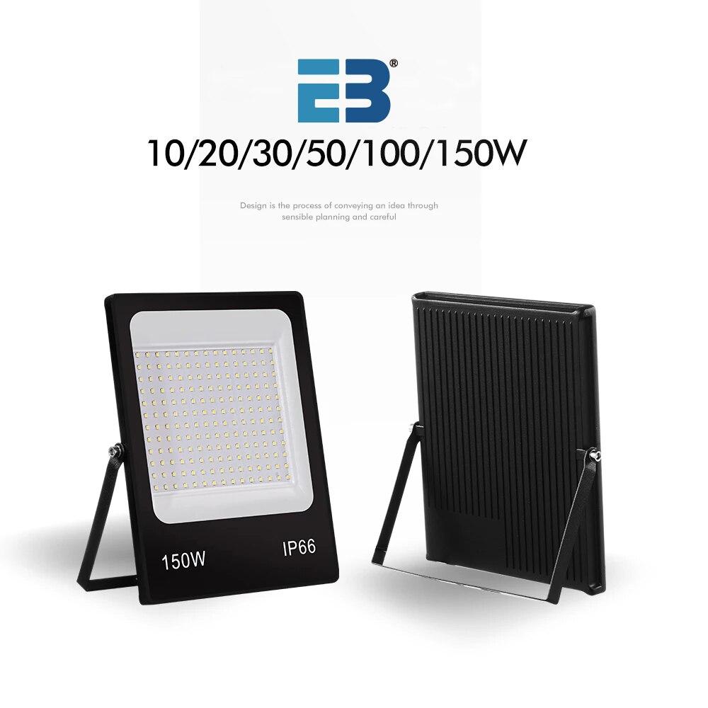 Новый ультратонкий Светодиодный прожектор 10 Вт, 20 Вт, 30 Вт, 50 Вт, 100 Вт, 150 Вт, 220 В, светодиодный точесветильник светильник, уличная лампа, водон...