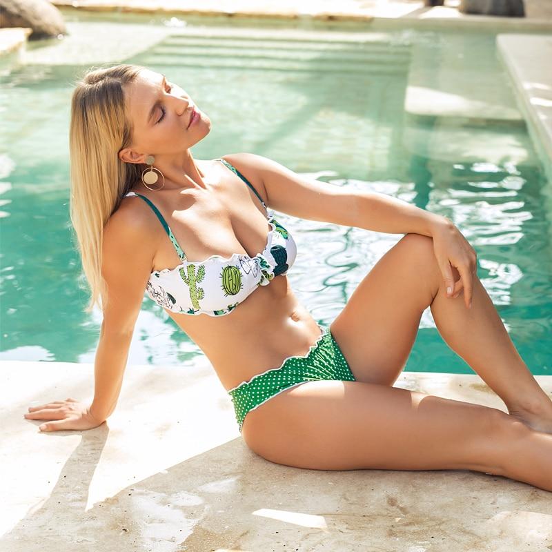 green swim suit