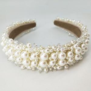 Pearl Hoofdbanden Voor Vrouwen Custom Bruiloft Tiaras En Kronen Voor Brides Kralen Hoofdband Ster Koningin Kroon Haaraccessoires