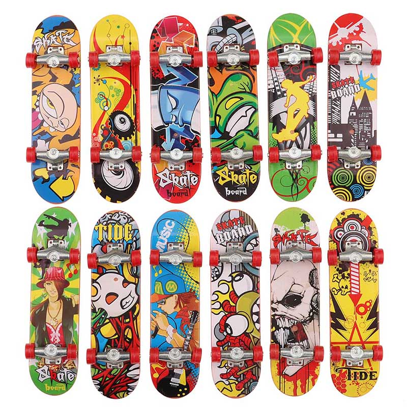 Color Printing Alloy Bracket Professional Finger Skateboard Finger Board Skateboard Mini Finger Boards For Kid Toy Gift Hot Sale