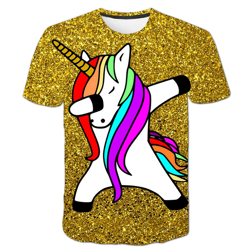 He65bad831225448f854aa9711a659ad6t Baby Girls T-shirt 4 5 6 7 8 9 10 11 12 13 14 Years Unicorn Kids T Shirt Children Clothes Summer Unicorn T shirts Girl s Tee