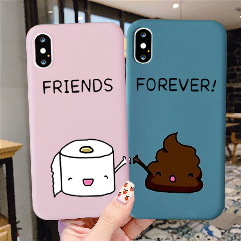 Best Friends Forever Cartoon BFF Phone Case for IPhone 11 Pro XS Max XR X 8 7 6 6S Plus SE 2020 Soft Silicone Cover