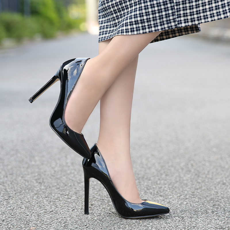 2020 New Sexy High Heels Pointed Toe Womens Shoes Temperament Single Shoe Simple Work Shoes Ladies Office Shoes Thin Heels Pumps