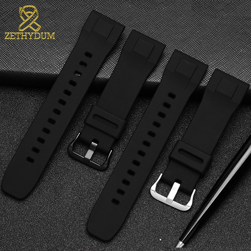 Silicone Rubber Watchband 24mm For Casio PRG-600YB-3 Prg-650 PRW-6600 Watch Strap Waterproof Bracelet Sport Wristwatches Band