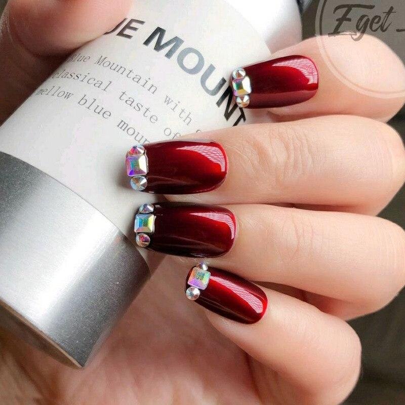 200 шт Стразы для дизайна ногтей плоский кристалл ab в форме