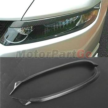 Real Crabon Fiber Head light Eyelid Eyebrow Cover Trim 1pair for Honda Odyssey 2003-2008  t181 1