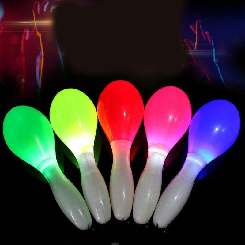 1pcs Random New Flashing Sand Hammer Bar Cheering Props Random Color for Evening Party 2021 Hot Sale