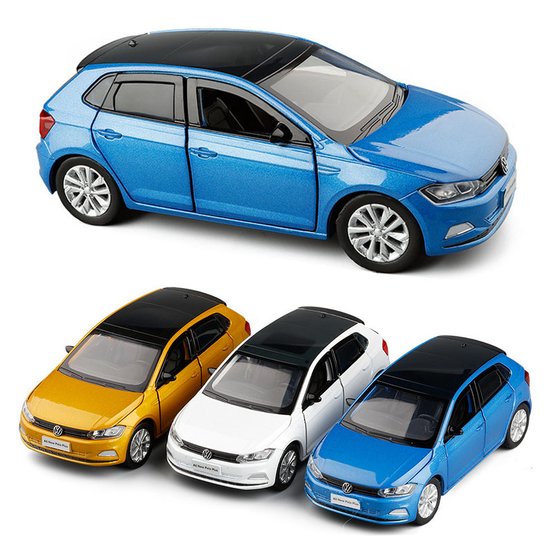 1:32 Volkswagen-polo VW Pusl Hatchback  Car Model Diecast Alloy Toy Children Gift Sound Light Mini Car Collection Free Shipping