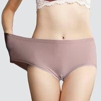 SeeBest Antibacterial Underwear Women Panties Briefs Shorts breathable Low Waist Ladies Female Plus Size 100KG Seamless Tmall