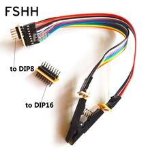 Обновленная версия soic16 sop16 тестовый зажим для spi flash