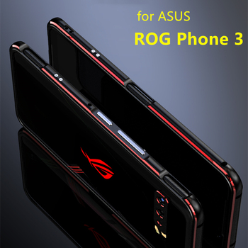 Case For ROG3 Rog Phone3 Deluxe bumper Ultra Thin aluminum Case for Asus ROG Phone 3 ZS661KS + 2 Film ( Front + Rear )