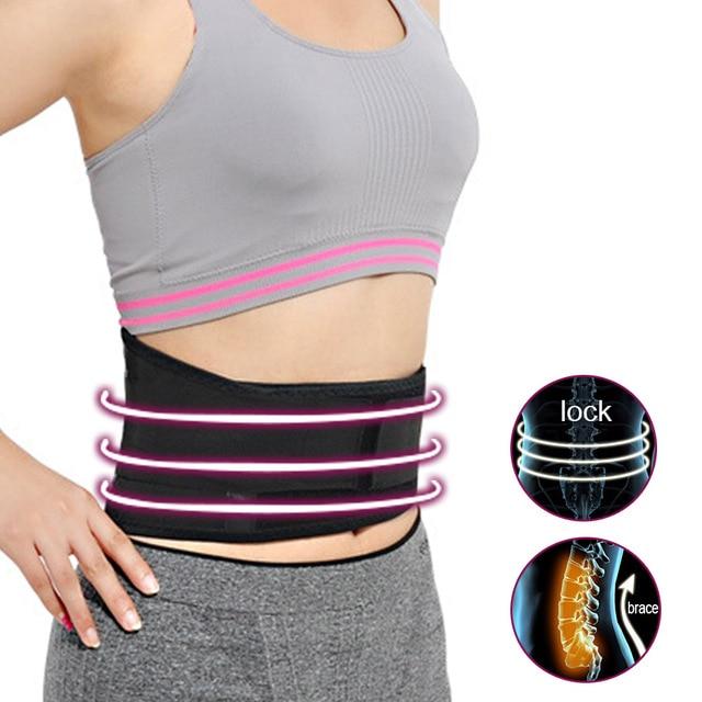 Band Back waist weightlifting gym sport lumbar warm support belt trimmer slimming training slim corset Lumbar Adjustable