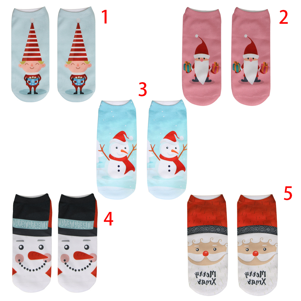 He65c66c275ca4d60b42998527117fa7c6 - 1pair Fashion Christmas Socks Women Cartoon Funny Cute Winter Female & Hosiery Cotton Square Foot Personality Socks Harajuku