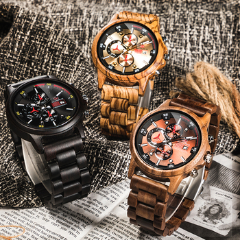 Top Brand Luxury Wooden Wristwatch Male Relogio Masculino Watches Men 2019 Wood Watch Sport Clock Digital Mens Watches wood business watches with waterproof luminous clock bewell men wooden wristwatch for male watch your family christmas gift 146a